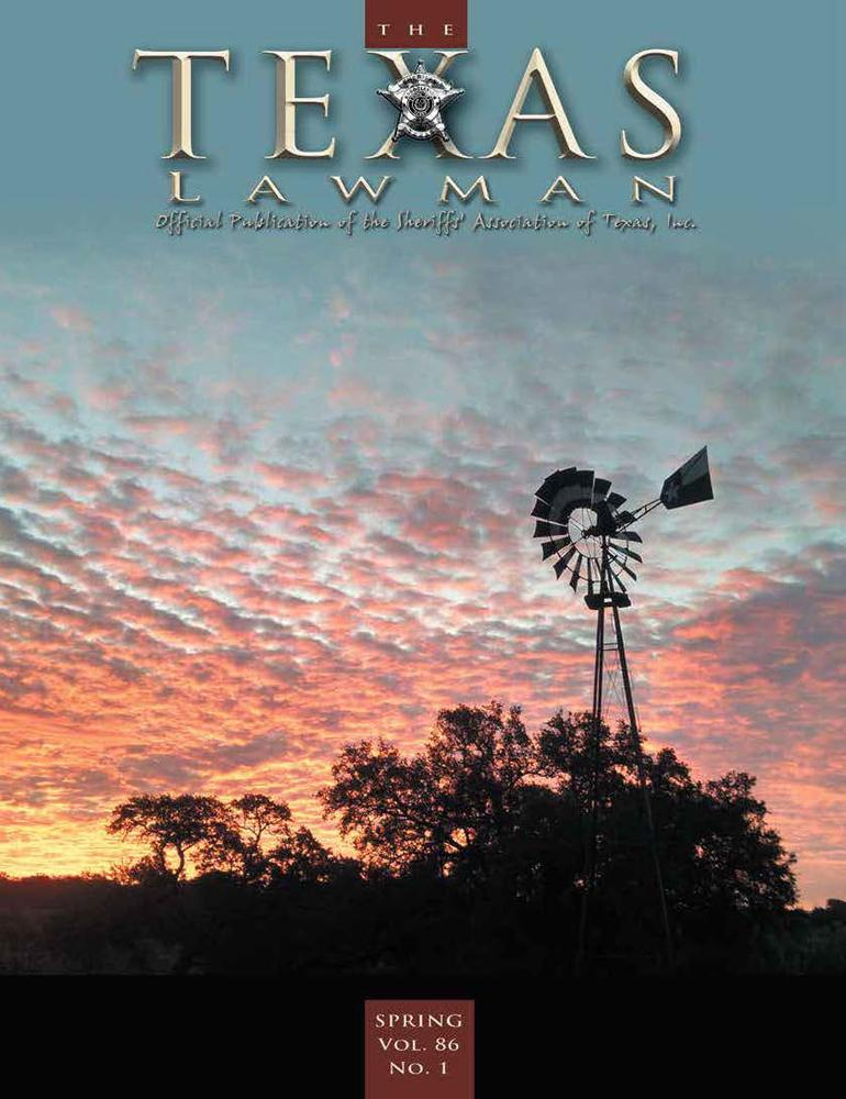 Texas Lawman Magazine Spring 2016 Sunset with windmill